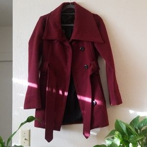 Jack by BB Dakota Burgandy Pea Coat